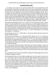 Chronik der Gemeinde Schröcken für das Jahr 2007 - Vorarlberger ...