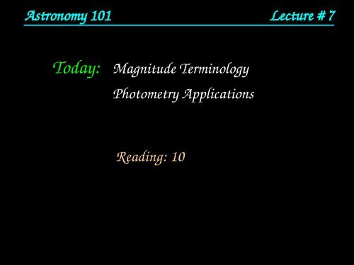 Magnitude Terminology Photometry Applications     - HMC Physics