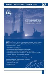 ENERGY INDUSTRIES COUNCIL (EIC) - Event Management Software