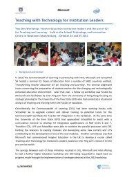 Report on Higher Education Worksho - SchoolNet South Africa