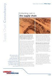 Supply Chain Consultancy - Unipart Logistics