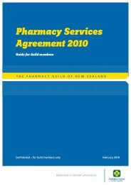 Pharmacy Services Agreement 2010 Guide for Guild members