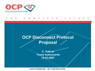 OCP Disconnect Protocol Discussion - OCP-IP