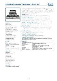 Paladin Advantage Transducers Class 0.2 - Crompton Western ...
