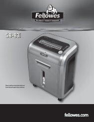 SB-83i Manual-2010 - Fellowes