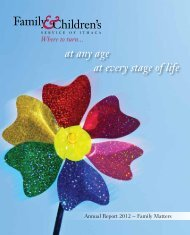 Our 2012 Annual Report! - Family & Children's Service of Ithaca