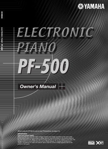 PF-500 - Yamaha Downloads