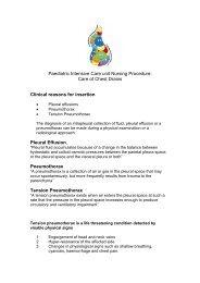 Paediatric Intensive Care unit Nursing Procedure ... - Cardiff PICU