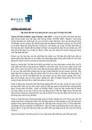 Tập đoàn Ma San huy động khoản vay trị giá 175 ... - Masan Group