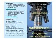 Troisième journée régionale de biologie médicale Jeudi 8 ... - CNBH