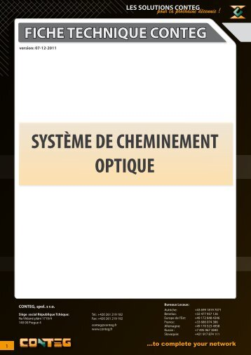 SYSTÈME DE CHEMINEMENT OPTIQUE - Conteg