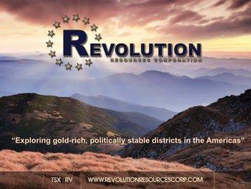 2 g/t Au - Revolution Resources Corp.