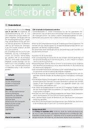 Eicherbrief 07/12 - Gemeinde Eich