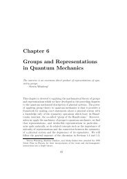 Chapter 6 Groups and Representations in Quantum Mechanics