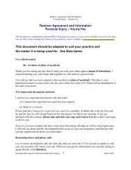 Retainer Letter personal injury Hourly - practicePRO.ca