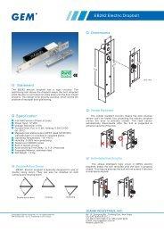 EB262 Electric Dropbolt - GEM,Gianni Industries, Inc.