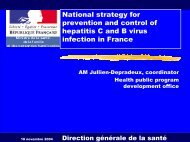 National strategy for prevention and control of C and B hepatitis ...