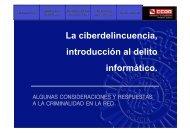 La ciberdelincuencia, introducción al delito informático. - CCOO
