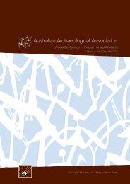 Australian Archaeological Association - School of Social Science