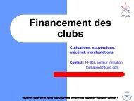 FINANCEMENT des CLUBS - Fédération Française de Judo