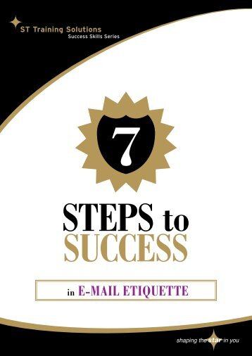 in E-mail ETiqUETTE - STTS Training - Online Store