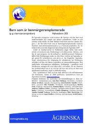 Barn som är benmärgstransplanterade - Ågrenska