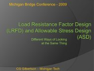 Load Resistance Factor Design (LRFD) and Allowable Stress ...