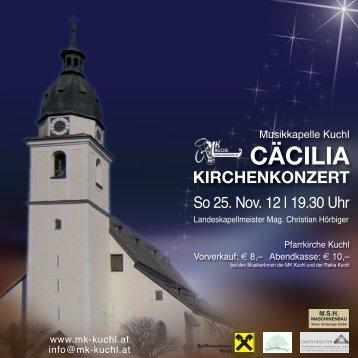 cäcilia kirchenkonzert - Salzburger Volkskultur