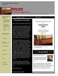 Update - School of Canon Law - Catholic University of America