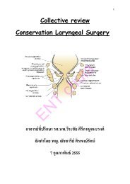 Collective review Conservation Laryngeal Surgery อาจารย์ที่ปรึกษา ร ...