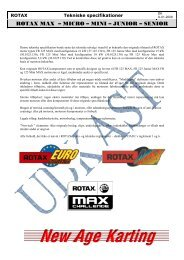 ROTAX MAX – MICRO – MINI – JUNIOR – SENIOR
