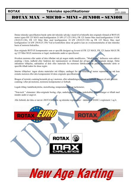 ROTAX MAX – MICRO – MINI – JUNIOR – SENIOR