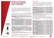 HP Server and Storage Reseller Special Offers Sept – 31 Oct 2010