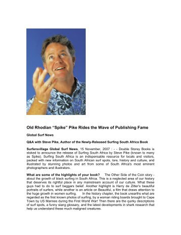 """Old Rhodian """"Spike"""" Pike Rides the Wave of Publishing Fame"""