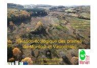 Géstion écologique des prairies de Montour et Vaucorniau