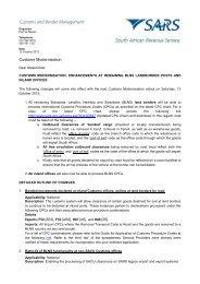 Customs Modernisation enhancements - MCLI