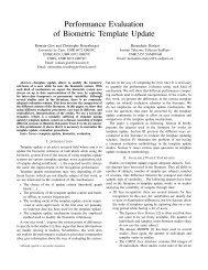 Performance Evaluation of Biometric Template Update - NIST Visual ...