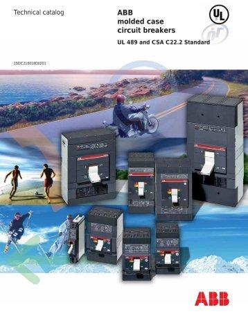 Abb Tmax Molded Case Circuit Breakers Clrwtr  Icu Ics Icw