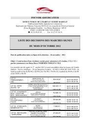 Document liste décision de signer OCTOBRE 2012 - Vendée Habitat