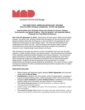 The Home Front- After the Museum press release - Museum of Arts ...