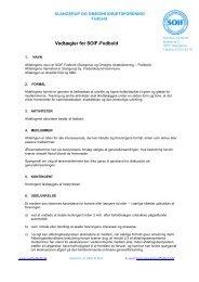 Vedtægter for SOIF-fodbold - Slangerup & Omegns Idrætsforening