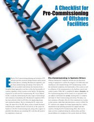 A Checklist for Pre-Commissioning of Offshore Facilities - Mustang ...