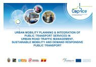 urban mobility planning & integration of public transport services in ...