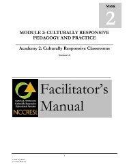 Module 2: Culturally Responsive Pedagogy - NIUSI Leadscape