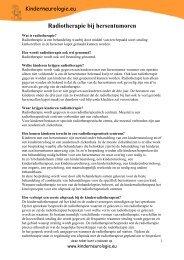 Radiotherapie bij hersentumoren - Kinderneurologie