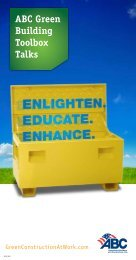 ABC Green Building Toolbox Talks - Green Construction at Work