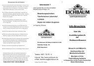 Info-Broschüre Ausbildungsberufe Interessiert - Eichbaum