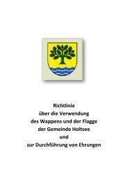1. Verwendung von Wappen und Flagge - Amt Hüttener Berge
