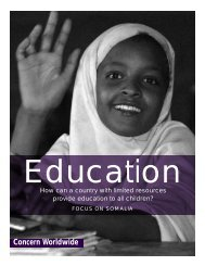 education for all children? - Concern Worldwide