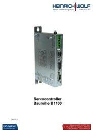 Servocontroller Baureihe B1100 - Heinrich Wolf - Antriebs